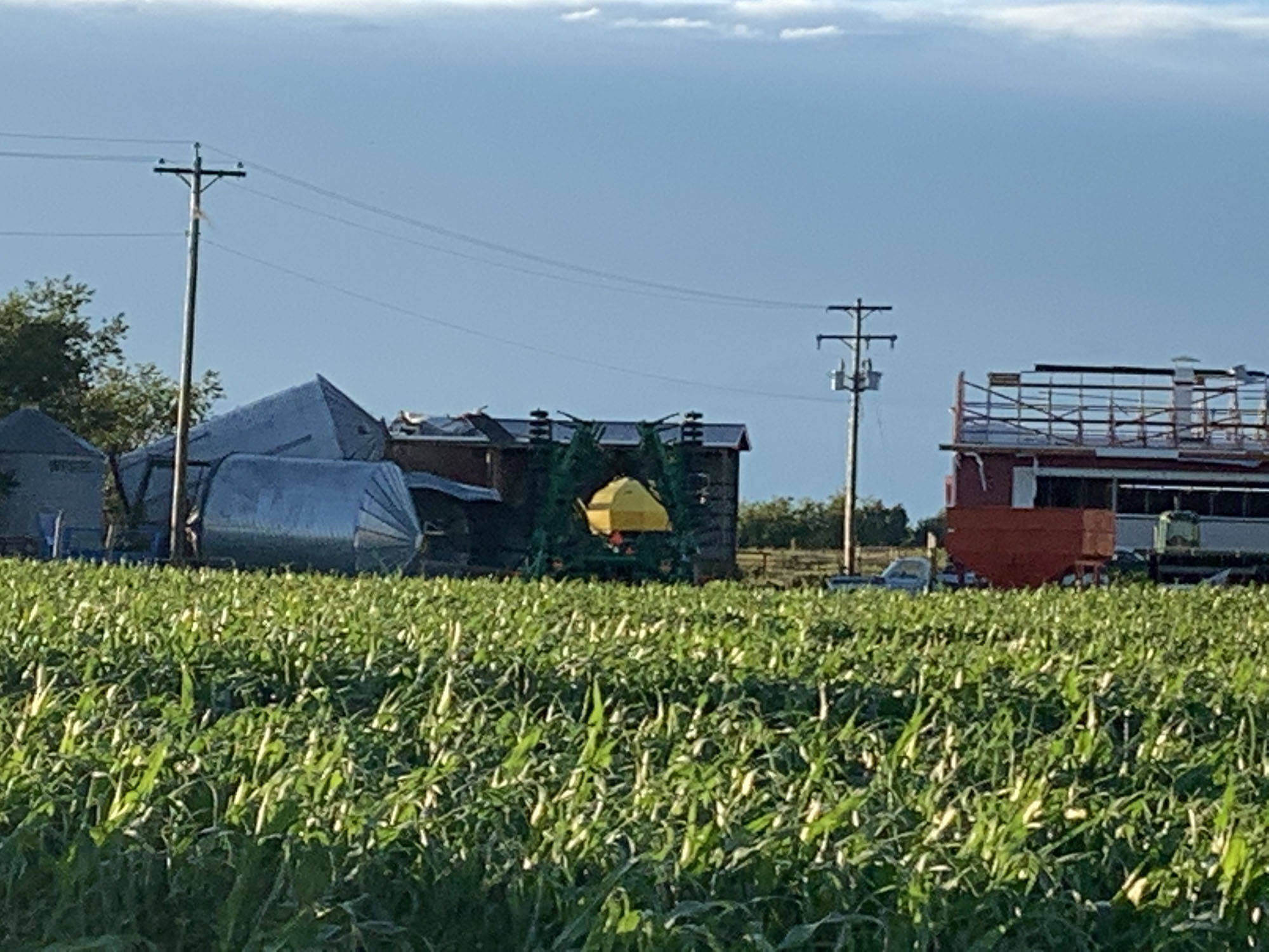 July 16, 2020 storm created a significant amount of damage throughout Millet, Alta. Photo submitted.